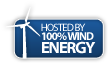 Hosting is powered by 100% wind energy!